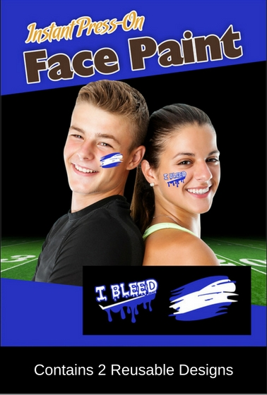 War Paint Royal Blue And White