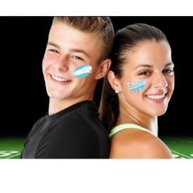 Instant Presson Face Paint Easy Halloween Or Game Day Makeup